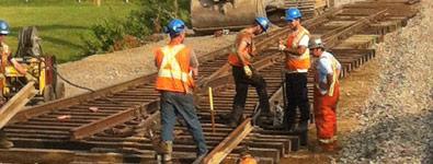 construction de voies ferrées