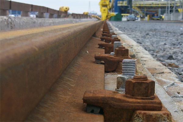 installation de rails de grue